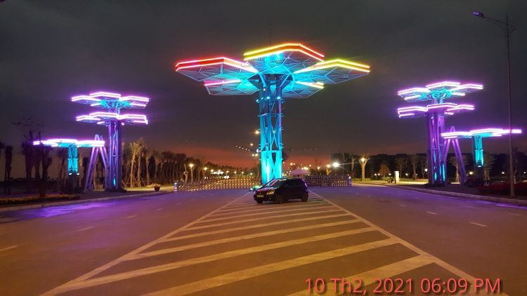Cổng dự án Khu du lịch Quốc tế Đồi Rồng tháng 2 - 2021